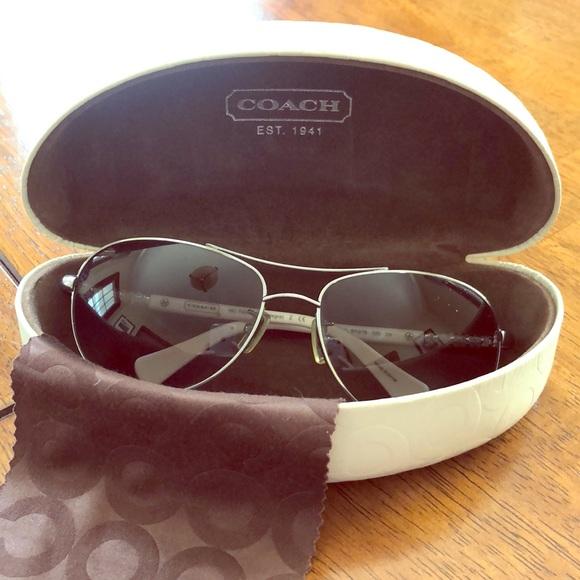 b0c2dbc7df7b Coach Accessories | Whitesilver Frame Sunglasses | Poshmark